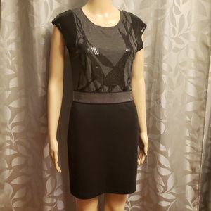 Miss Me Sequin Short Sleeve Dress